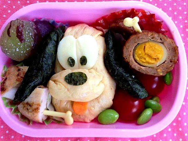 ☆野菜たっぷりオムライス☆チキンマリネ焼き☆スコッチエッグ☆枝豆☆ピオーネ☆ - 2件のもぐもぐ - Lunch box☆Pluto プルート by Ami