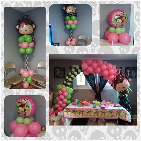 17 best images about arcos y columnas centros de mesa on pinterest prom decor sailor theme - Monkey balloons for baby shower ...