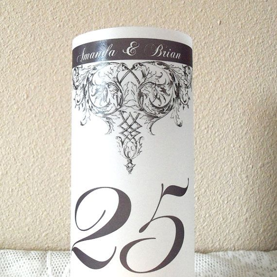 "Vintage Baroque Luminary 8.5"" Candle Surrounds - Formal Wedding Decor - Personalized Design"