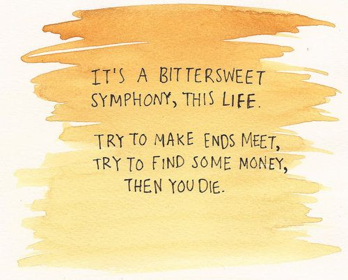 try to make ends meet bittersweet symphony lyrics