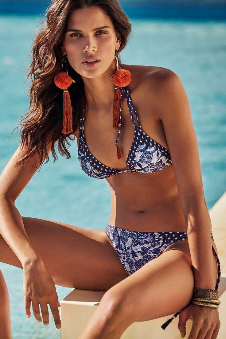 Womensecret Haut de bikini triangulaire rapiécé imprimé