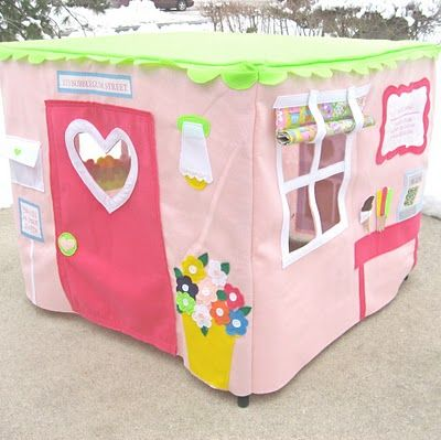 card table tent! That's it...I need a sewing machine pronto!