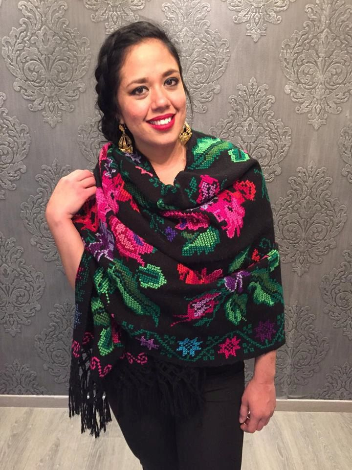 Mexican shawl rebozo cross stitch punto de cruz mexican ...