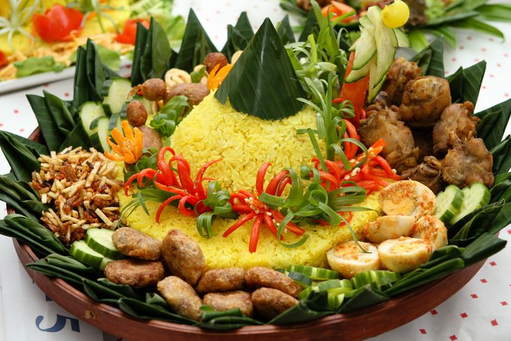 Nasi tumpeng- a traditional Indonesian dish served at celebrations