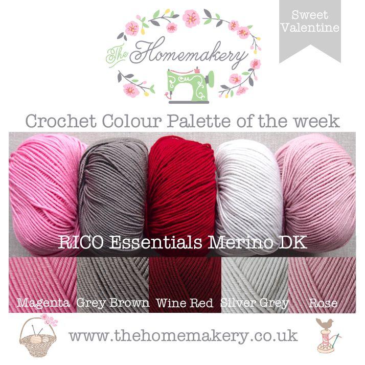 Sweet Valentine Crochet Colour Palette