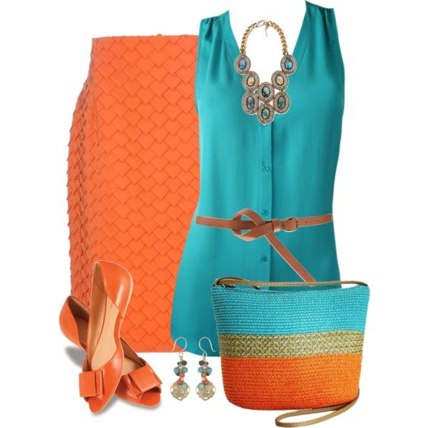 Teal and Orange, created by daiscat on Polyvore