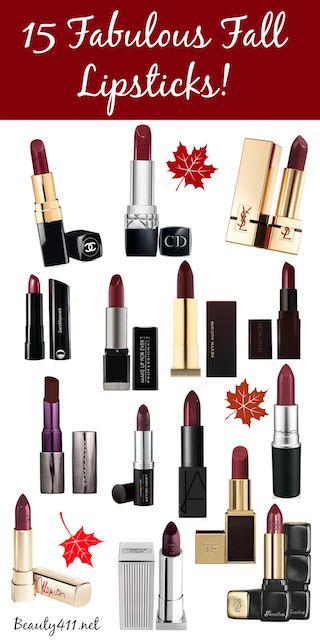 Fabulous Fall Lipstick Shades!