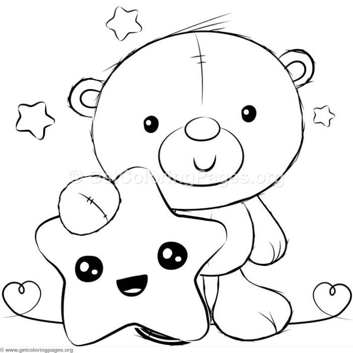 Cute Teddy Bears 11 Coloring Pages