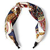 #10: (エムエイチエー) M.H.A.style スカーフ カチューシャ チェーン柄 馬具柄 リボン レディース 21428 A