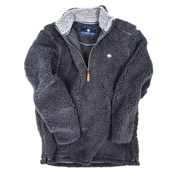Quarter Zip Sherpa Pullover in Magnet Grey by The Southern Shirt Co. - 2