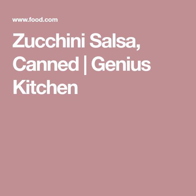 Zucchini Salsa, Canned   Genius Kitchen