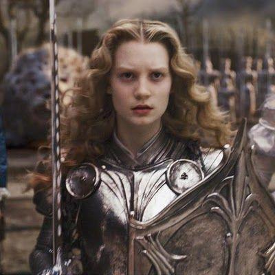 "Mia Wasikowska, ""Alice in Wonderland"", 2010 #armor #sword"