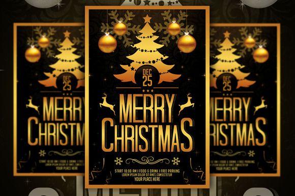Christmas Flyer by Gayuma on @creativemarket
