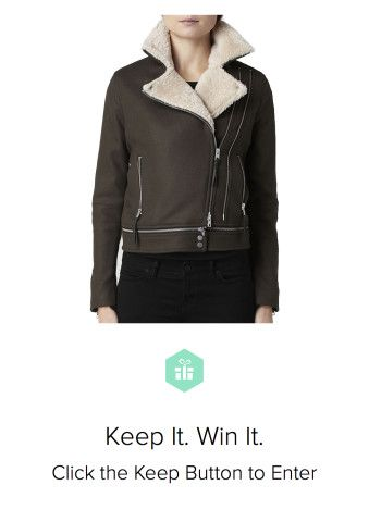 Win a #AllSaints coat from Keep! I love this jacket!!!