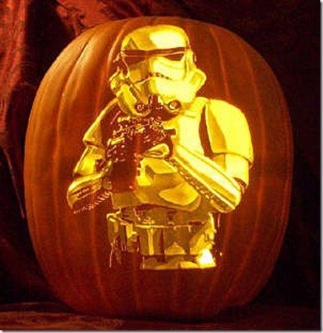 stormtrooper pumpkin carving