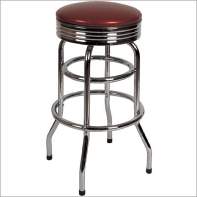 Backless Swivel Retro Diner Stool Diners Stools And Bar