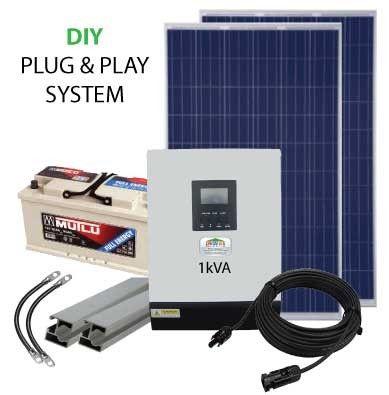 1kVA 12V Solar PVDIY Power Pack
