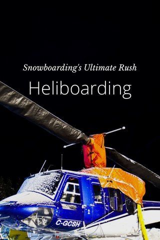 Check out this story by Snowboarding In Canada