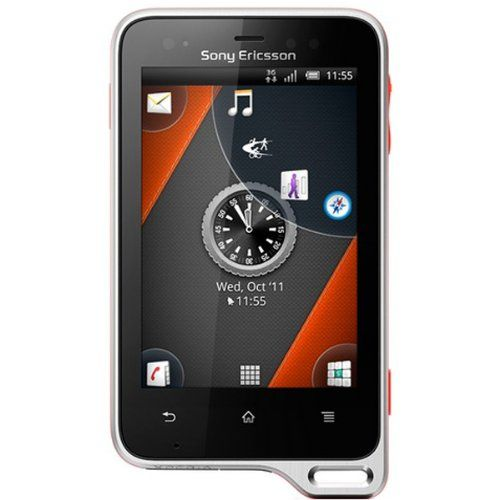 Sony Ericsson ST17i Xperia Active Android Unlocked Smartphone with 5MP Camera, Touchscreen, WiFi, GPS - International Warranty - Black/Orange Display: 320 x 480 pixels, 3.0 inches (~192 ppi pixel density). Internal Memory: 1 GB (320 MB user available), 512 MB RAM. Android OS, v2.3 (Gingerbread), planned upgrade to v4.0 (Ice Cream Sandwich). CPU: 1 GHz Scorpion. Camera: 5 MP, 2592х1944 pixels, aut... #Sony #Wireless