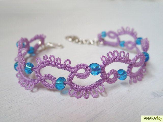 Tamara ART: Frivolité / Tatted bracelet (free pattern)