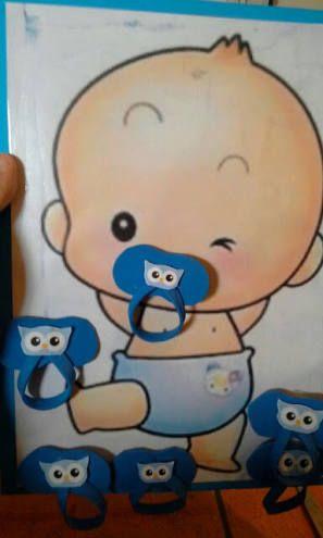 Resultado de imagen para juego baby shower ponerle chupon