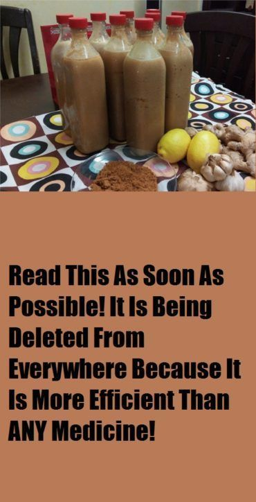 his drink is 100% natural and it cleans our arteries from toxins, chemicals and fats that could do us harm. It likewise shields us from colds and influenza and takes out diseases that can change[...]