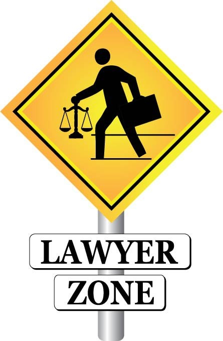 Lawyer Zone sign