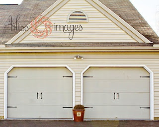 Garage Door Makeover With Simple Hardware. Spring Project! Http://www.