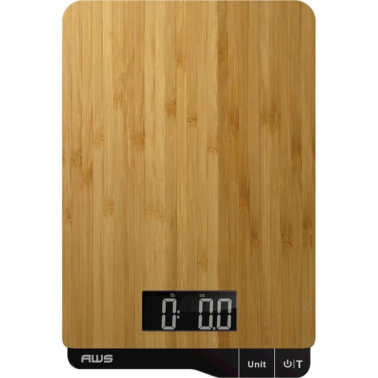American Weigh Scales - EcoWeigh Digital Kitchen Scale - Bamboo (Green)