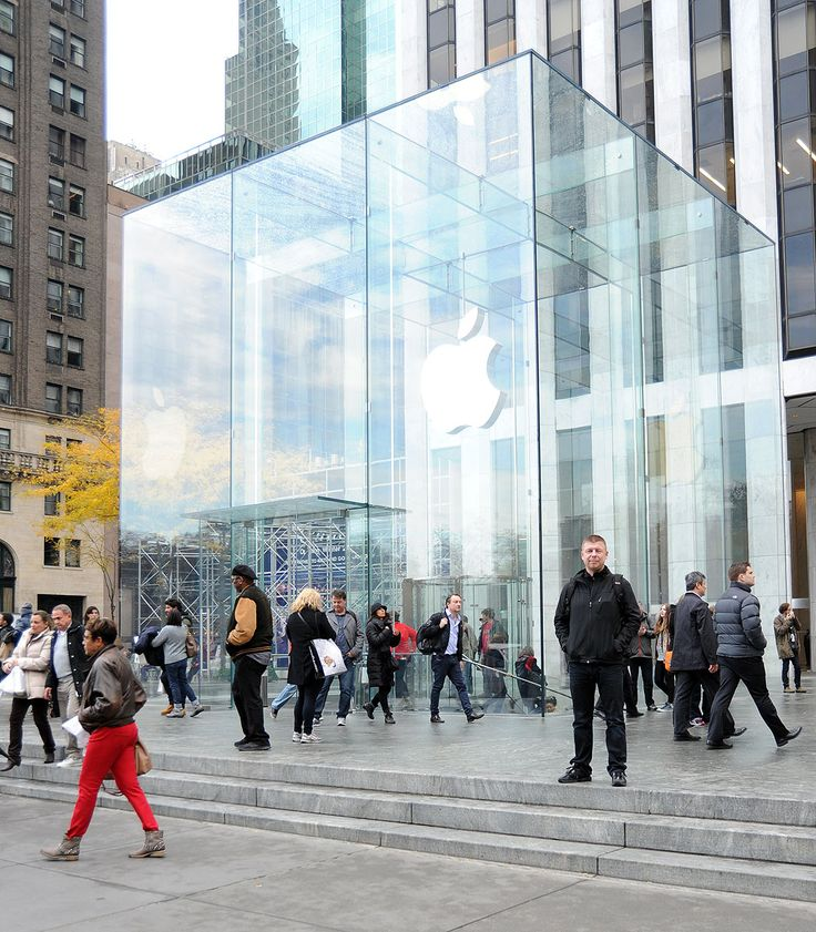 The most famous Apple Store on Fifth Avenue