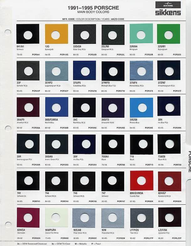 231 best Chips/\Codes/\Paint #'s images on Pinterest | Colour chart Blue Metallic Porsche Paint Colors on porsche cayenne paint colors, porsche 911 turbo light blue color, porsche paint color chart,