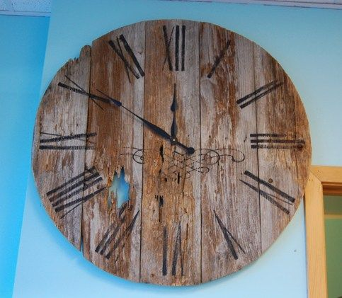 Rustic Reclaimed Barn Wood Wall Clock - 36 inches - 248 Best Images About Clocks On Pinterest Arts & Crafts, Arts