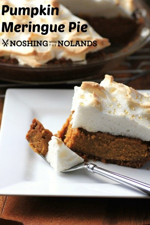 Pumpkin Meringue Pie #CanadianEggs #Giveaway by Noshing With The Nolands