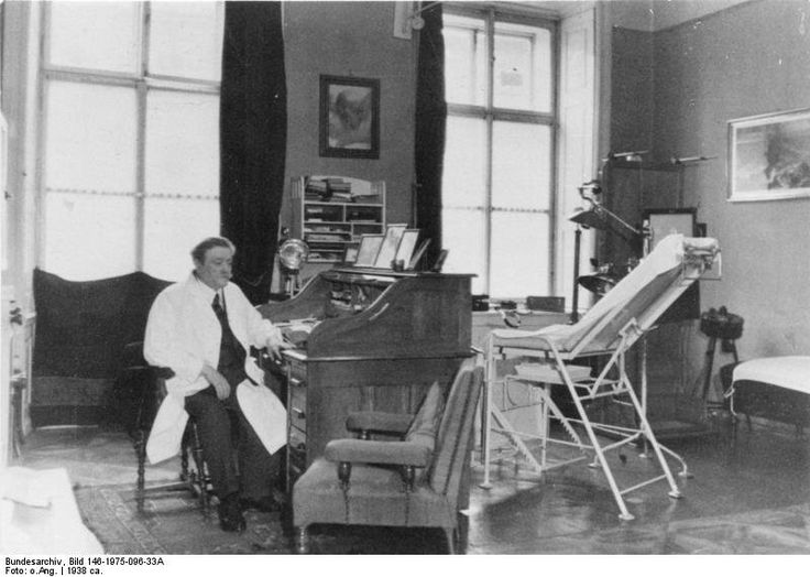 Eduard Bloch, the Jewish physician of the Hitler family in his office c. 1938. Bloch was later called a 'noble Jew' by Hitler and stood under his personal protection