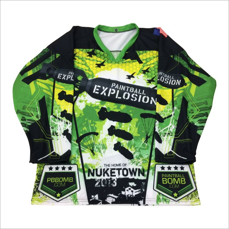 Paintball Explosion, Long Sleeve Jersey