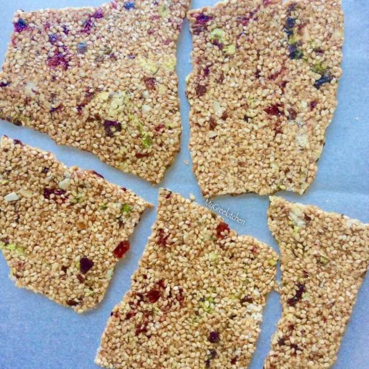 GREEK PASTELI WITH NUTS & DRIED FRUITS