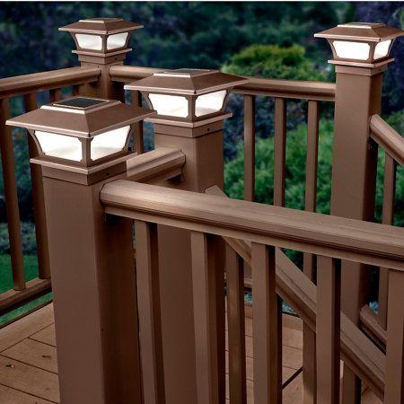 Solar Post Cap Lights-Set of 2 Brown                                                                                                                                                      More