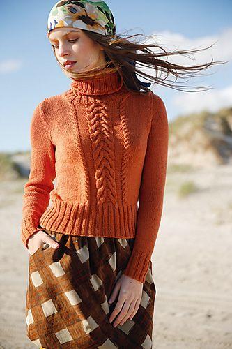 Ravelry: # 33 Kurz-Pullover mit Zöpfen pattern by Rebecca Design Team