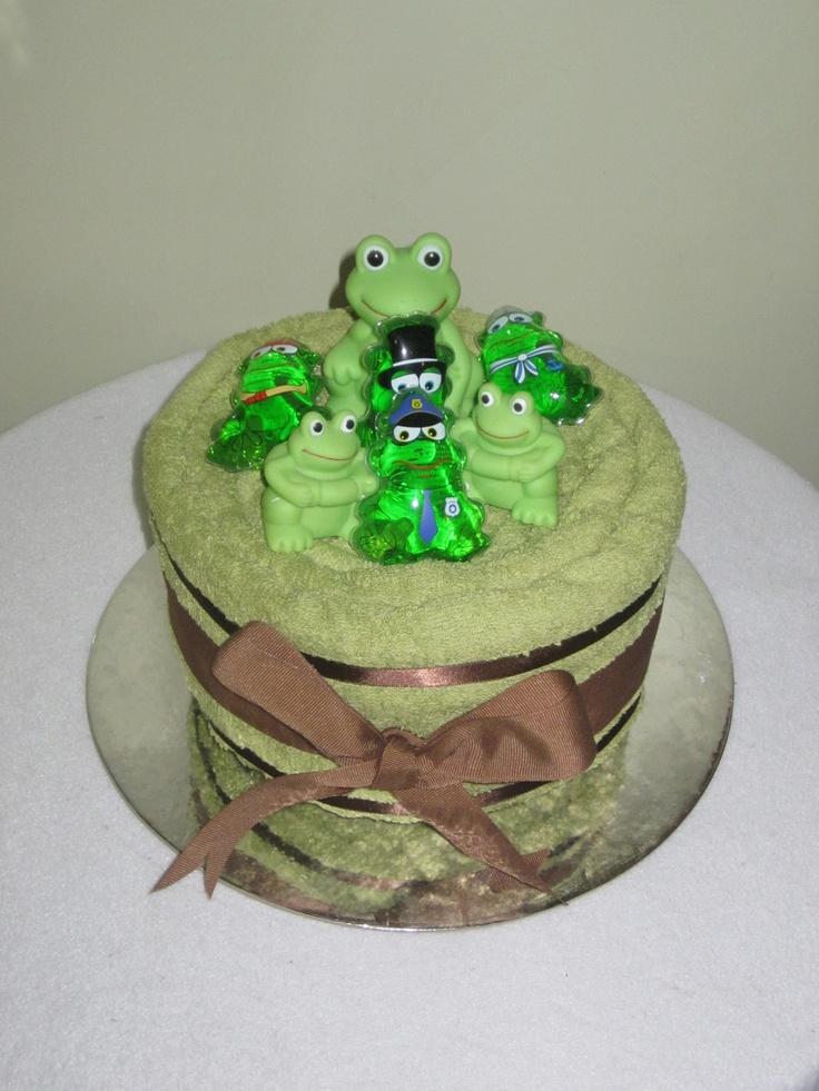 Froggy Towel Cake