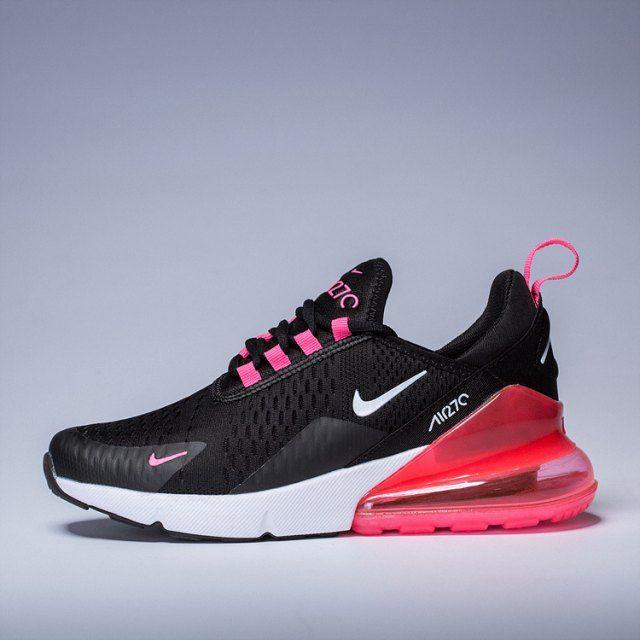 Women's Nike Air Max 270 Black Pink Purple White Girls ...