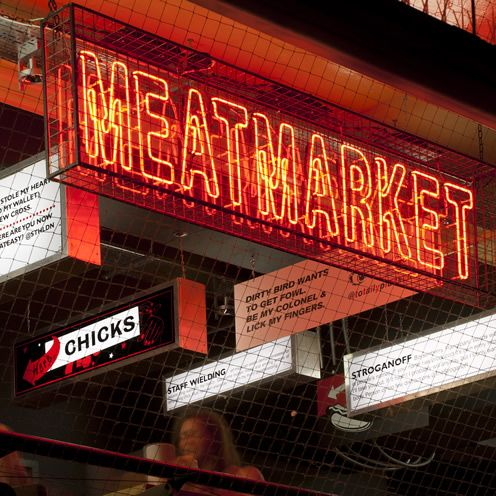 MEATmarket is seriously in your face, screaming at you like the bastard love child of an overwhelming Far Eastern food market and a brash American roadside diner...