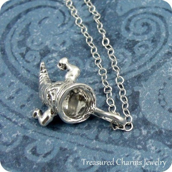 TWISTER CHARM WITH BOX CHAIN NECKLACE STERLING SILVER TORNADO