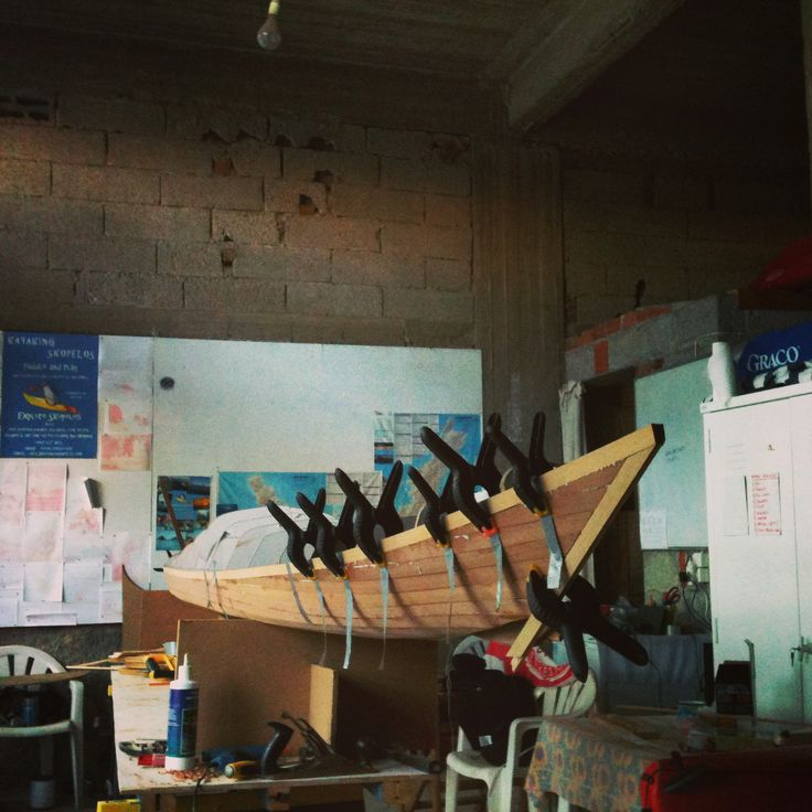 Sea kayak taking shape