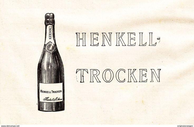 Werbung - Original-Werbung/ Anzeige 1901 - HENKELL TROCKEN SEKT - ca. 160 x 110 mm