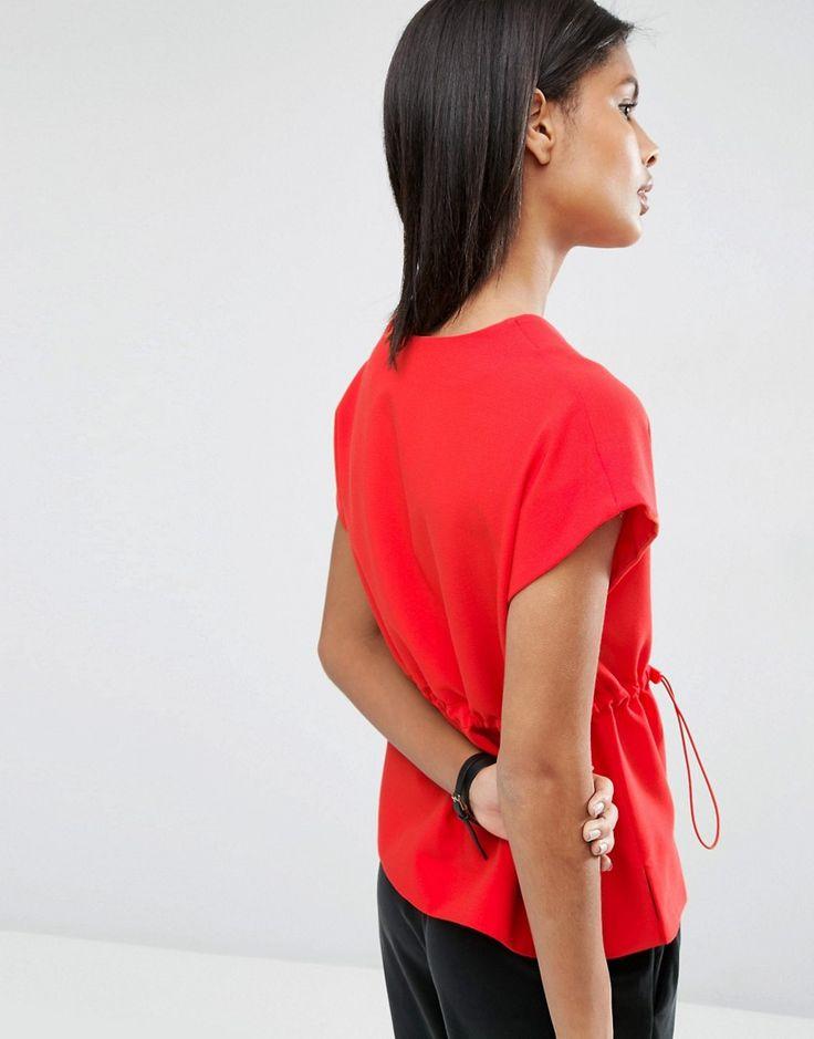 Image 2 ofASOS Obi Wrap Top with Drawstring Waist