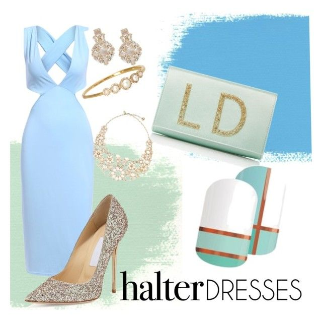 """""""Untitled #34"""" by staceywilson-2 on Polyvore featuring Preciously, Jimmy Choo, Kate Spade and halterdresses"""