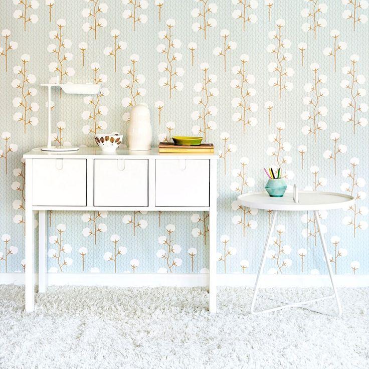 Majvillan Sweet Cotton Soft Blue Wallpaper #majvillan #beautiful wallpaper