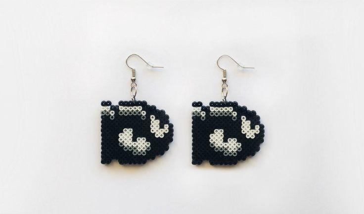 Bullet Bill Earrings - Super Mario Nintendo Earrings, Geek Gifts, Pixel Jewelry, Gifts for Gamers, Nerd Gifts, Perler Beads, Hama Beads by 8BitEarrings on Etsy