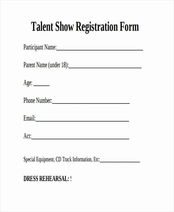 Free Printable Contest Entry Form Template Inspirational 10 Talent