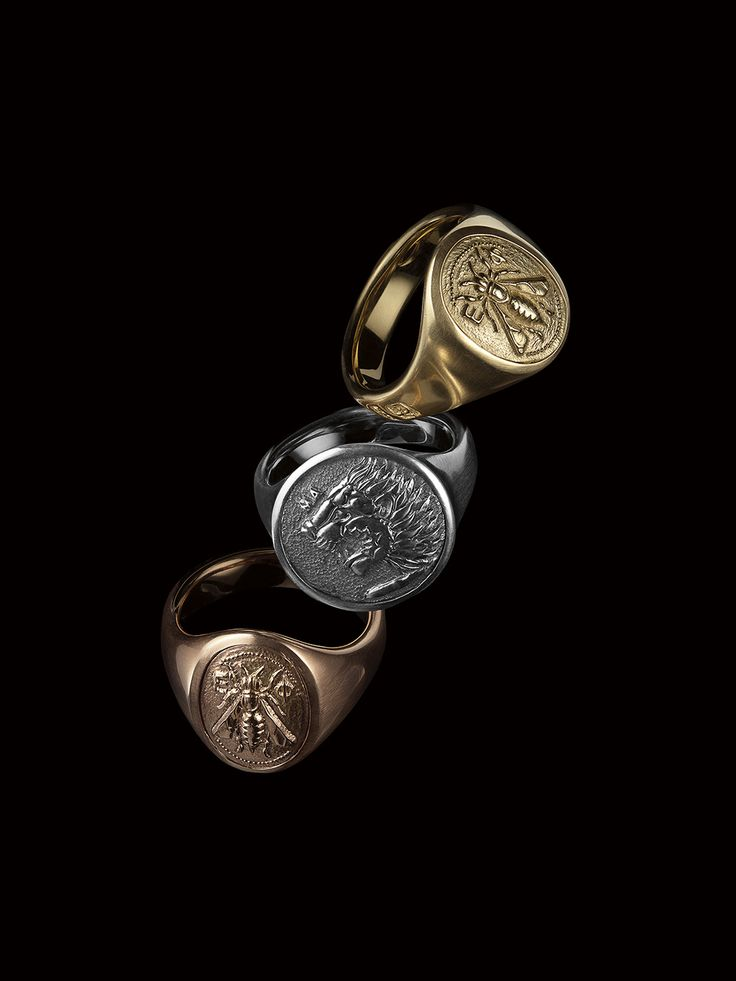 Petrvs® signet rings for men.